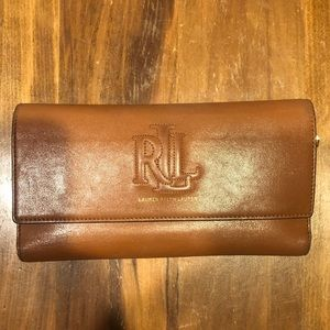 Ralph Lauren Brown Leather Wallet
